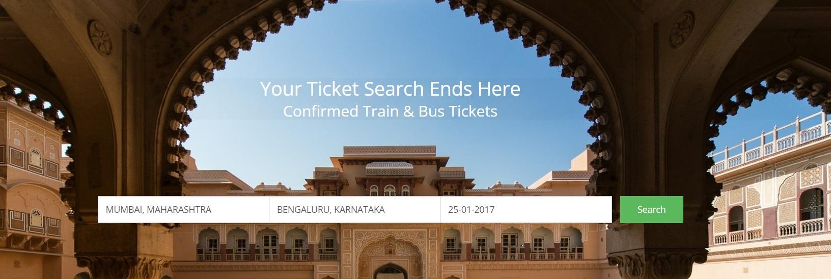 IRCTC Train Ticket booking Online - Confirm Ticket Trains